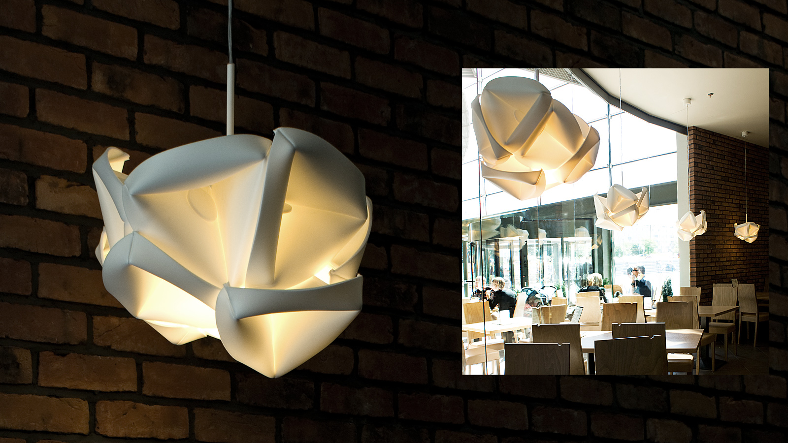RENOVATION lamps in the interiors of KFC restaurant in «Cuprum Arena» mall, Lubin, Poland