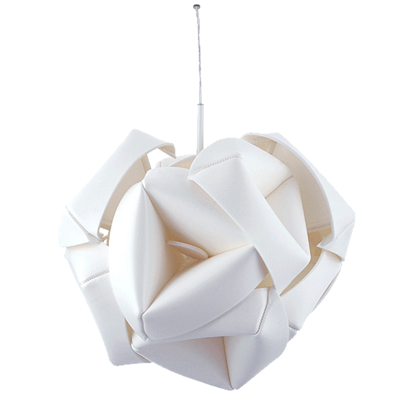 RENOVATION lamp from upcycled plastic foam scraps, design: Daria Burlińska