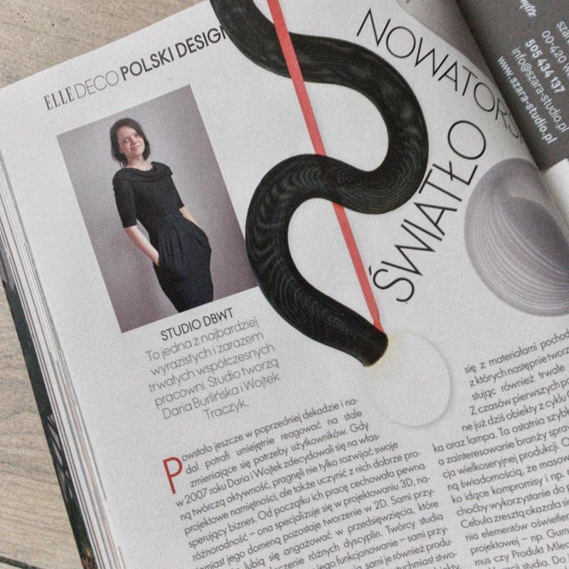 Daria Burlińska, DBWT.PL – publikacja w «Elle Deco» 02-03/2020